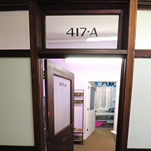 Picture of the entrance to Suite 417-A